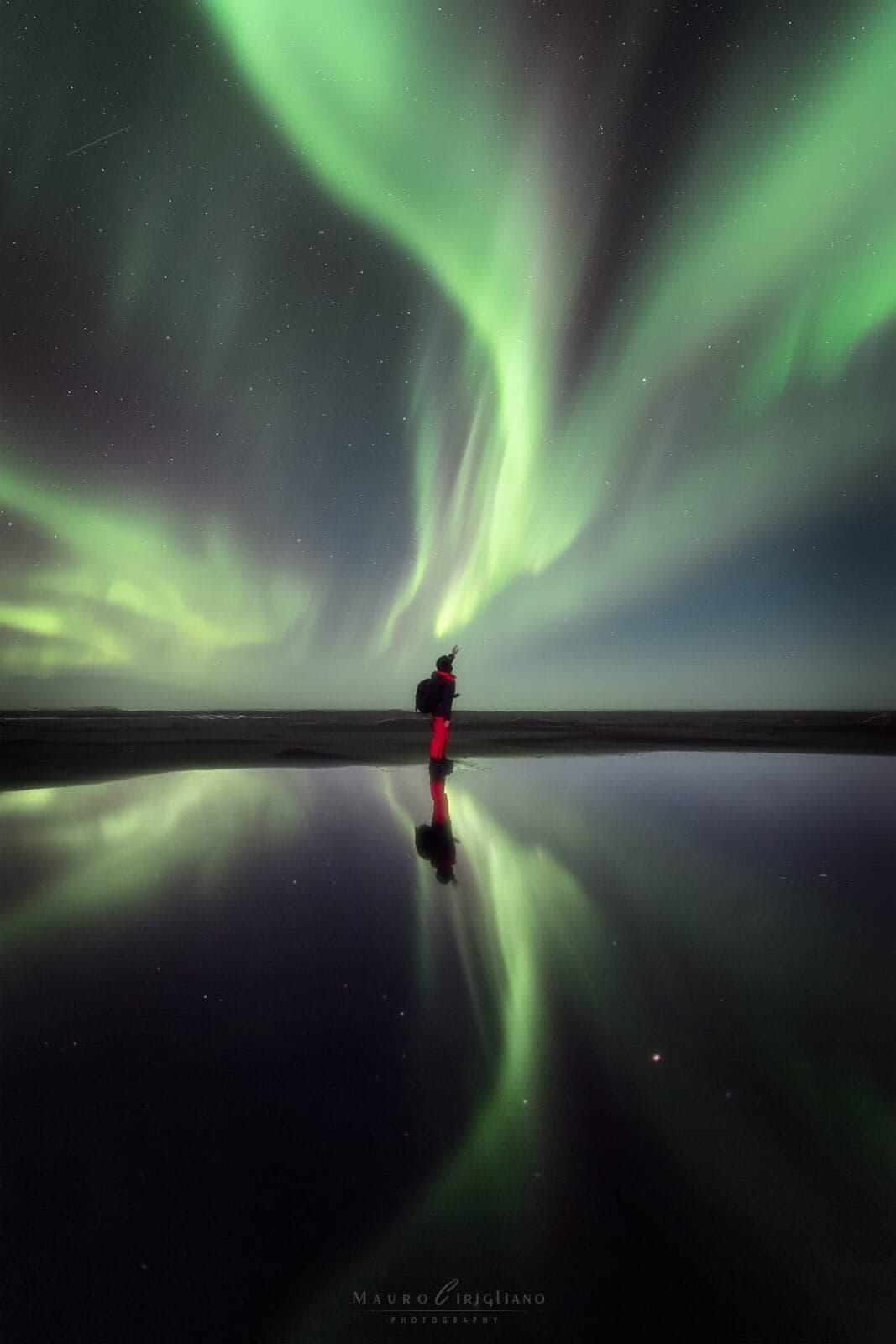 aurora boreale selfie