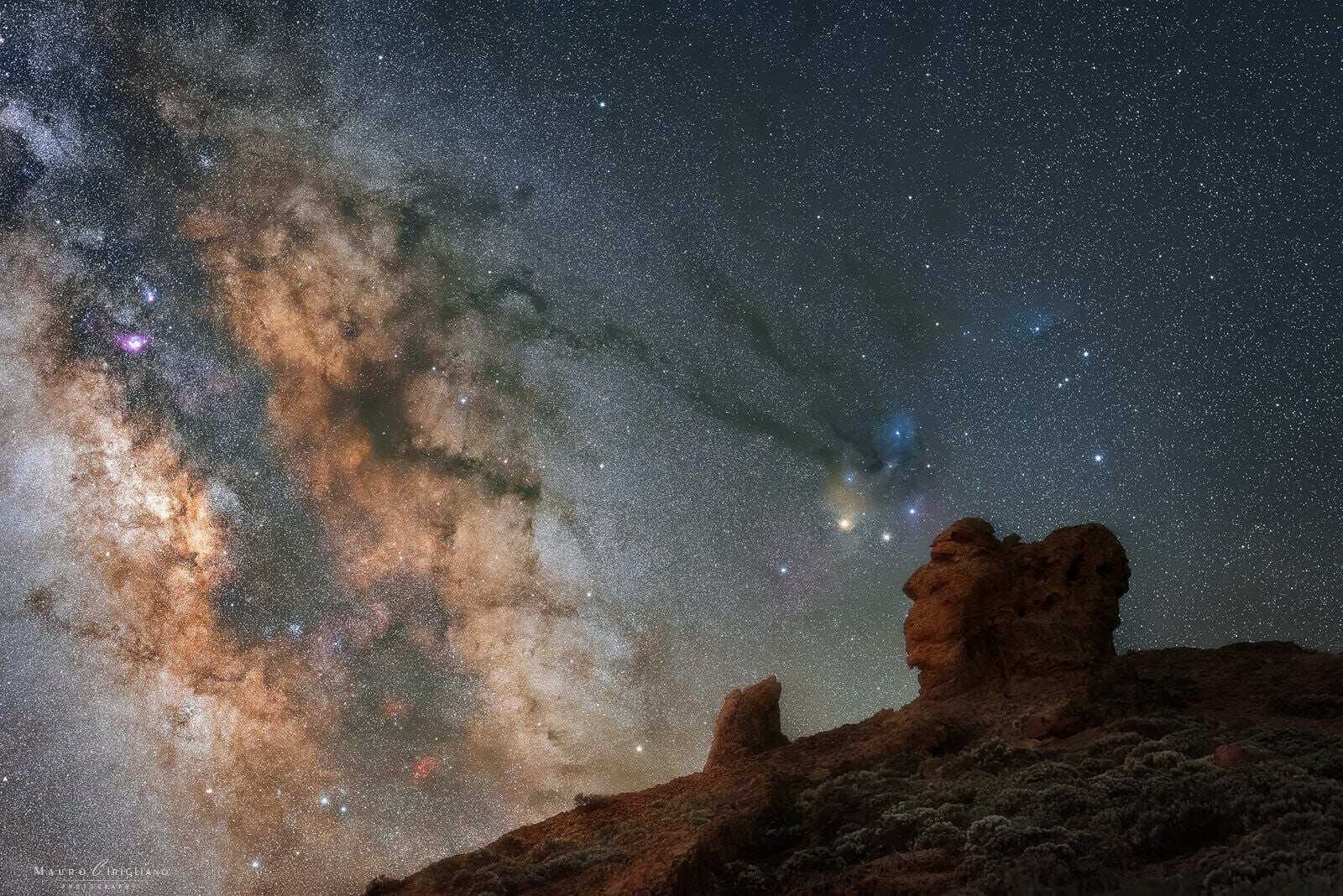 milkyway portrait from teide national park