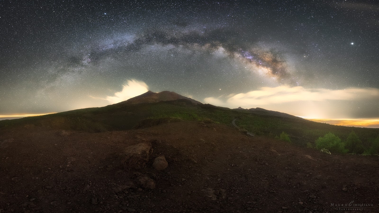 teide canary islands panorama
