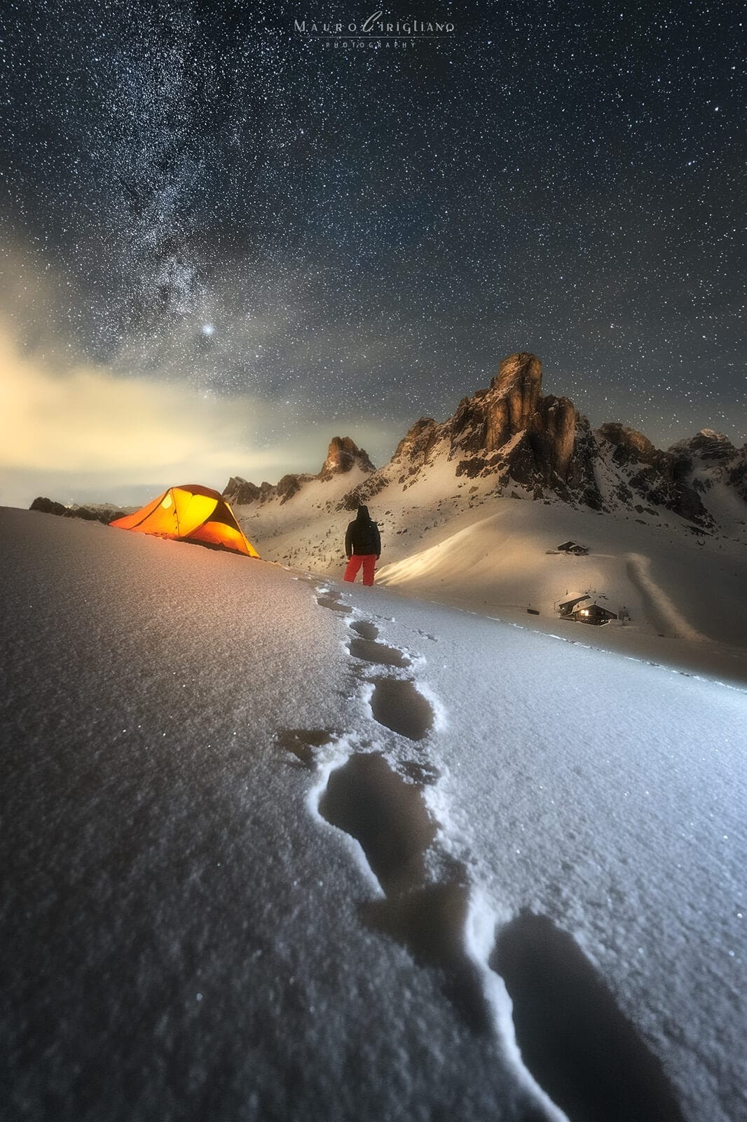 Tent and snow