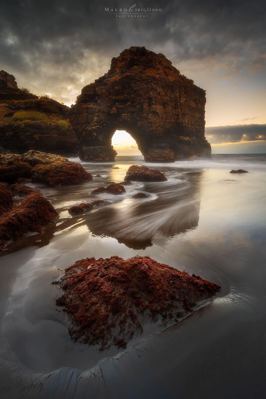 tramonto spiaggia playa los roques tenerife