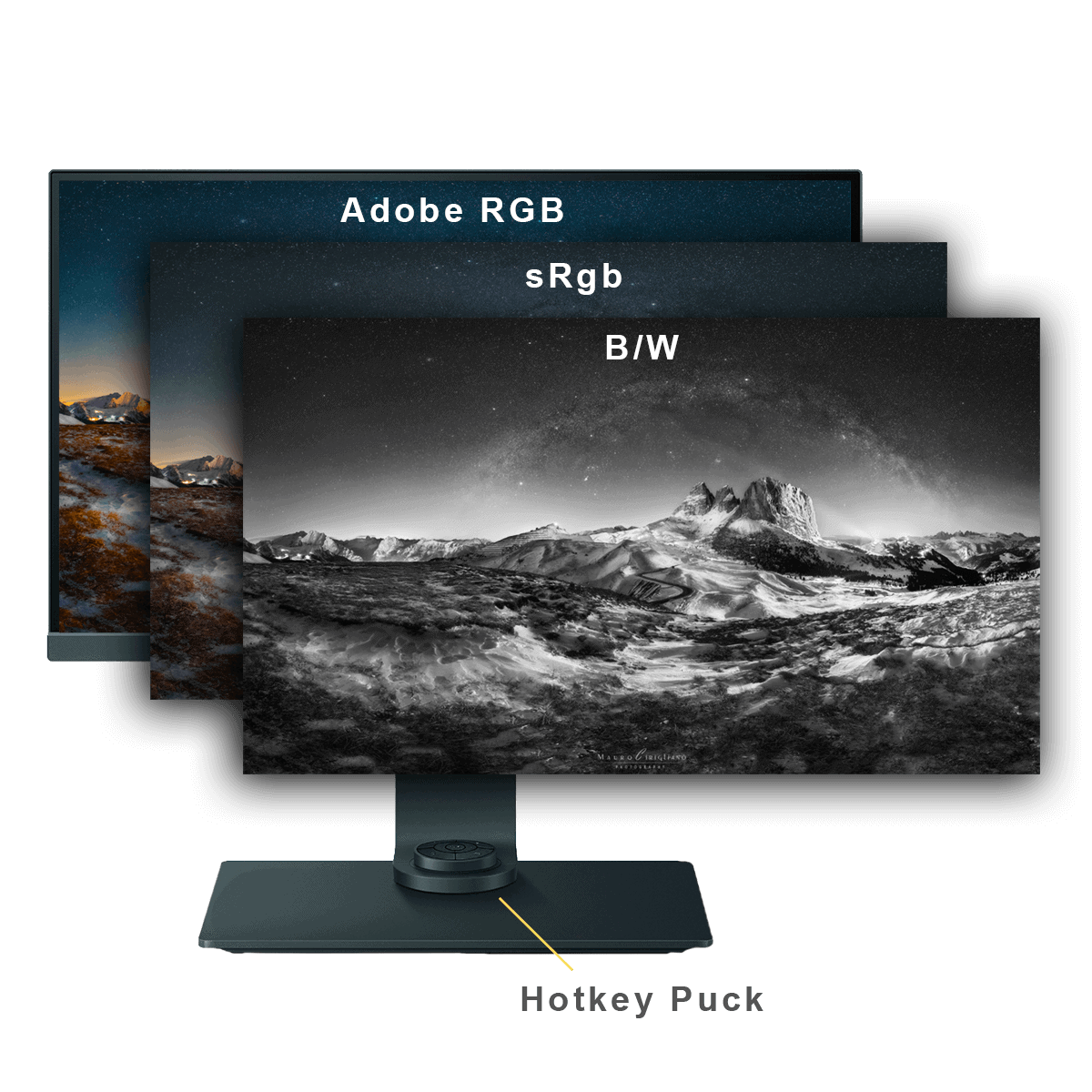 Black and white monitor