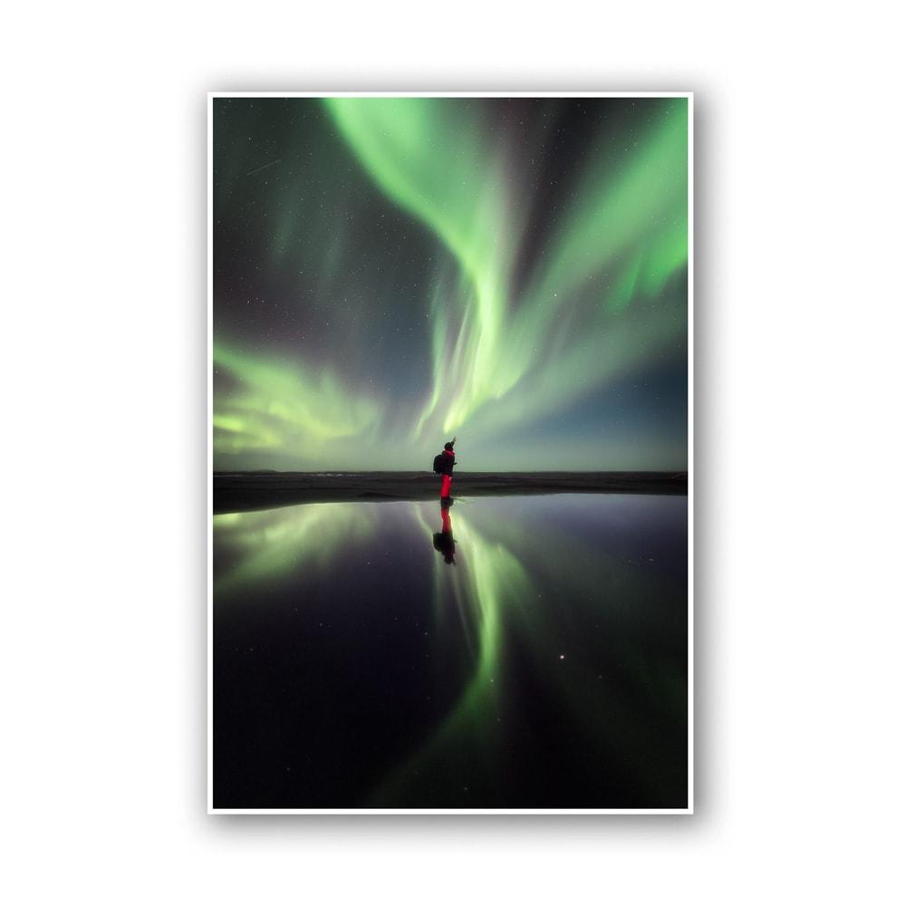 aurora iceland print