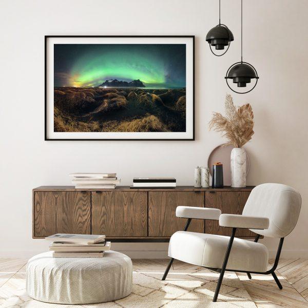 aurora print vestrahorn