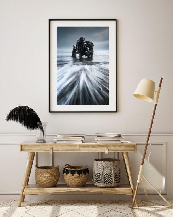 hvitserkur seascape iceland print