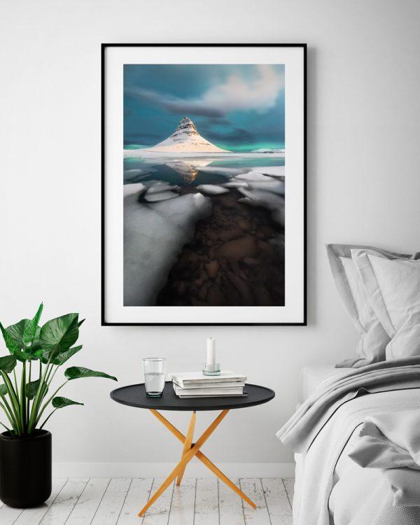 ice print kirkjufell