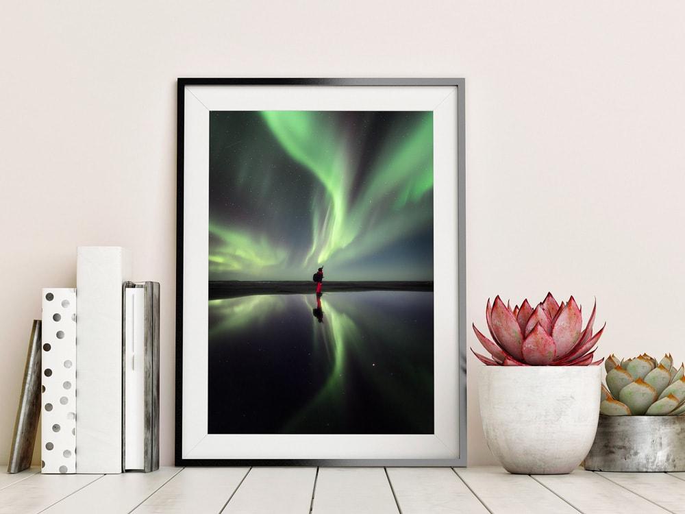 iceland aurora print