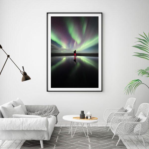 iceland northernlight print