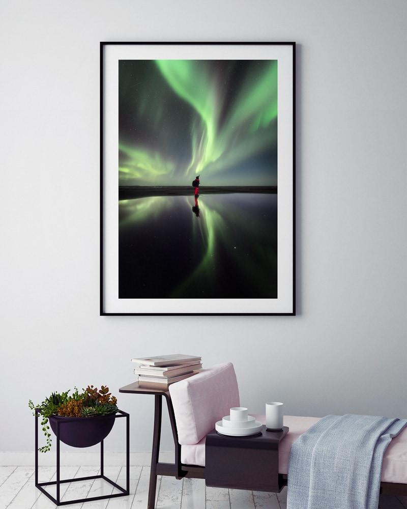 iceland print aurora