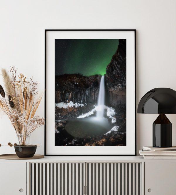 iceland print svartifoss