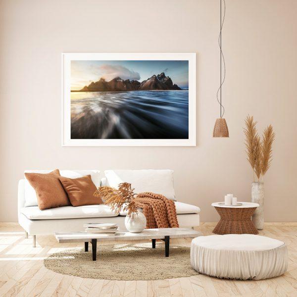 iceland print vestrahorn