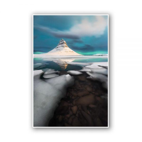 kirkjufell ice print