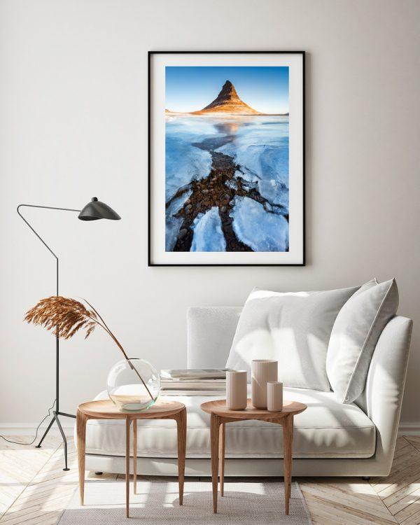 kirkjufell print iceland