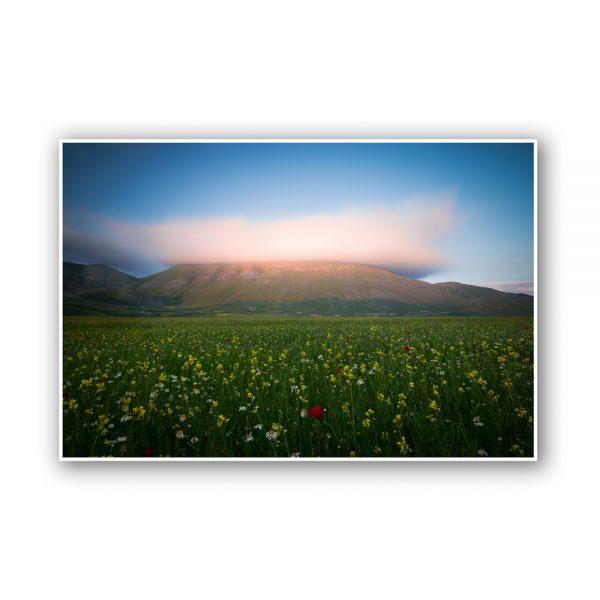 norcia castelluccio sunset print