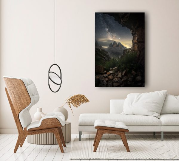 planet earth dolomites print