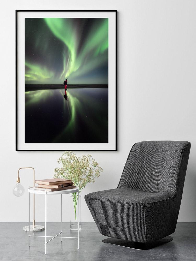 print aurora iceland