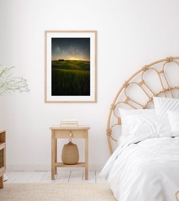 print cipressini tuscany