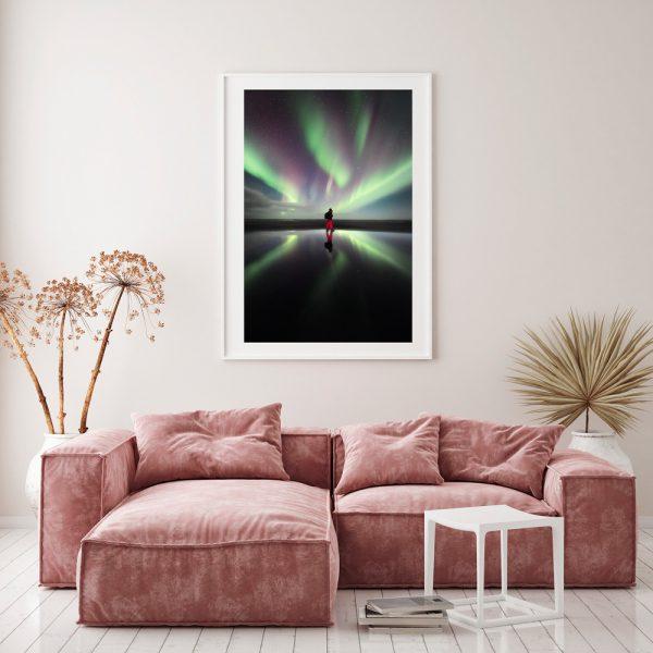 print iceland northernlight