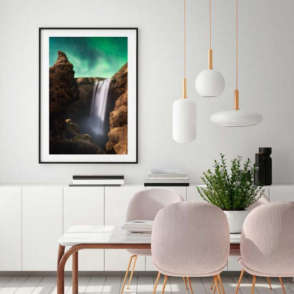 print iceland skogafoss