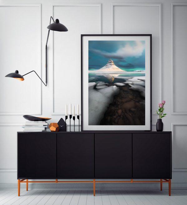 print kirkjufell ice