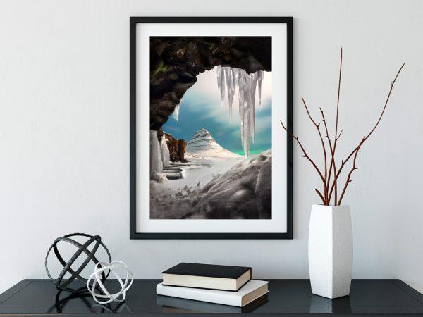 print kirkjufell snow