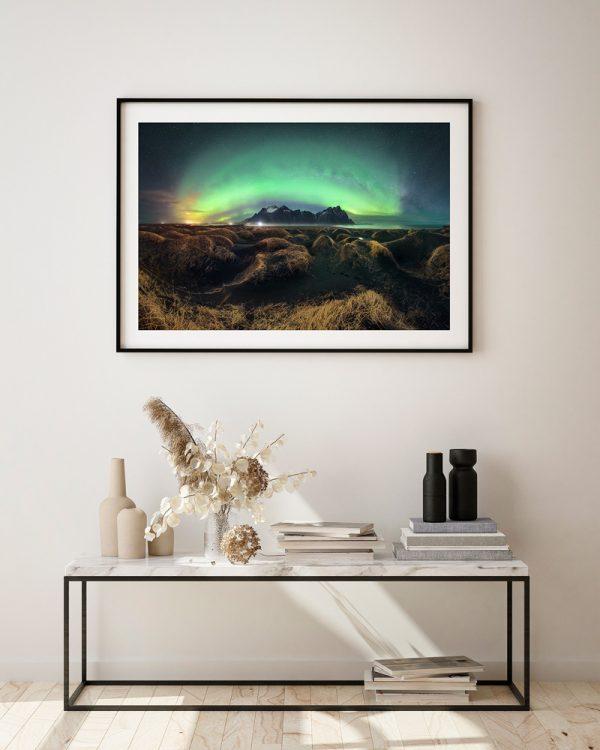 print vestrahorn aurora