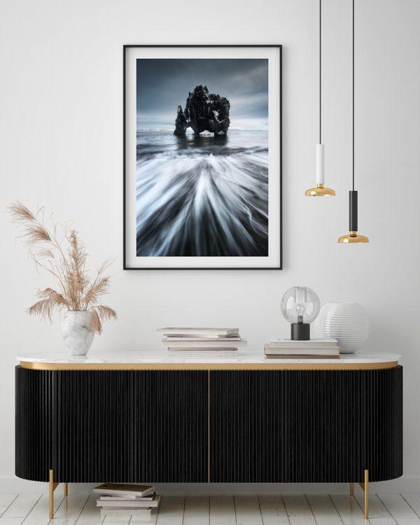 seascape hvitserkur iceland print