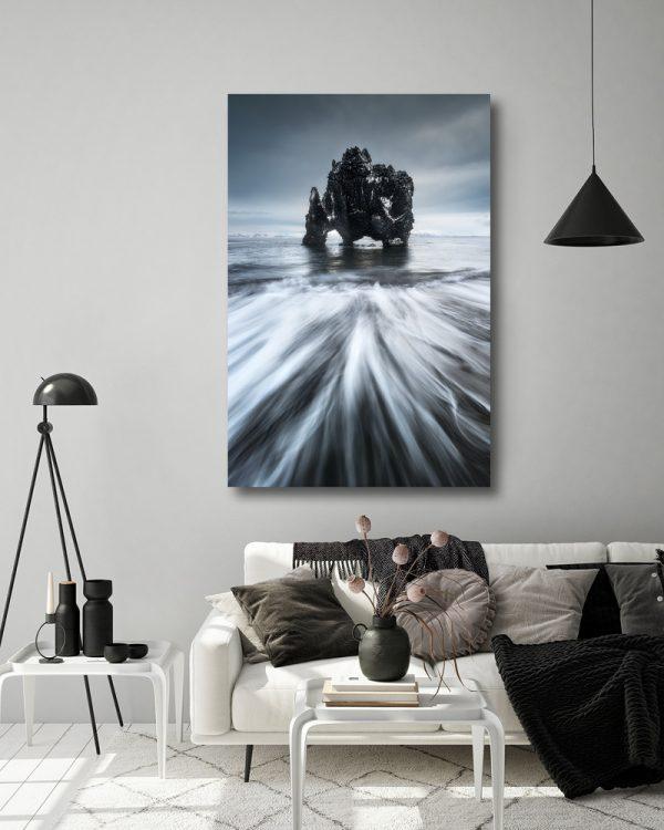 seascape hvitserkur print iceland