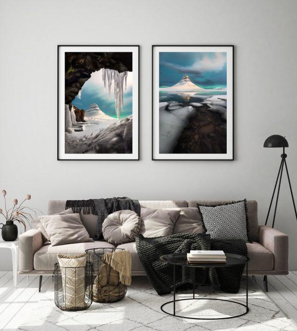 set kirkjufell iceland