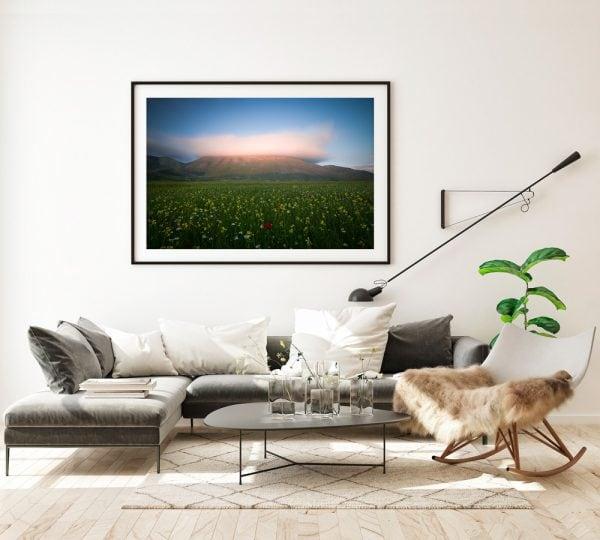 sunset norcia castelluccio print