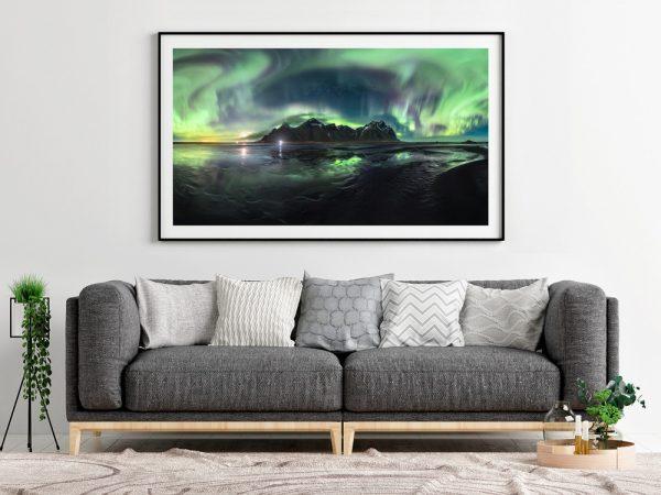 vestrahorn aurora iceland