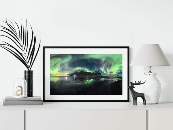vestrahorn iceland aurora print